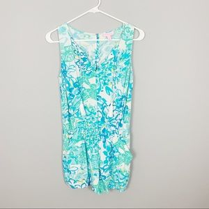 Lilly Pulitzer Blue Patterned Romper